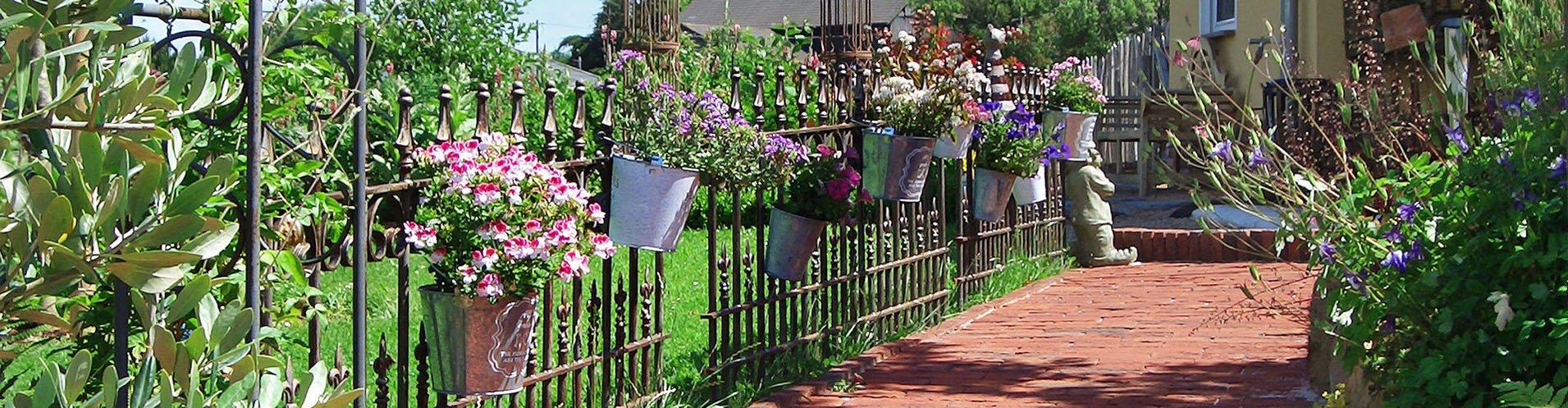Antike Gartenzäune aus Eisen
