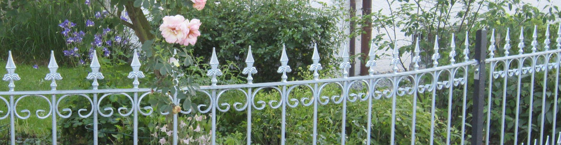 Verzinkte Gartenzaunelemente