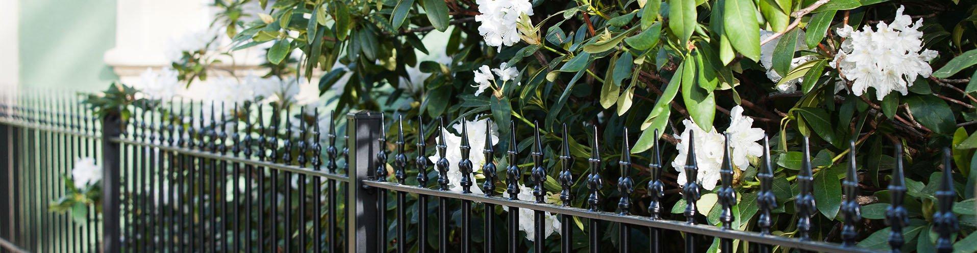 Pulverbeschichtete Gartenzäune