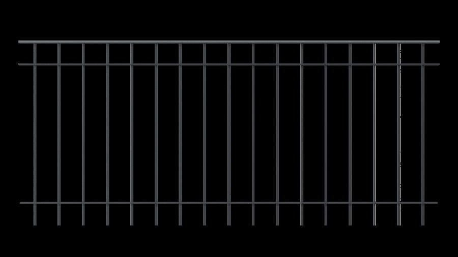 Balkongeländer Padua, pulverbeschichtet