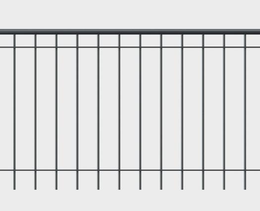 Geländer Belluno mit Handlauf - gerade Form
